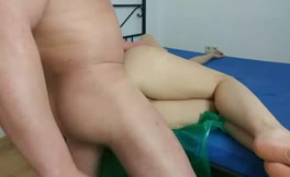 Blonde girl fucked hard from behind