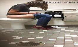 Girl Pooping In Public Toilet