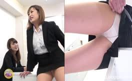 Two japanese girls poop in their panties