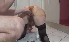 Brunette milf fucked hard in the ass