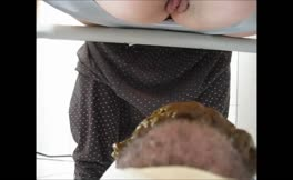 Feeding boyfriend with lots of shit
