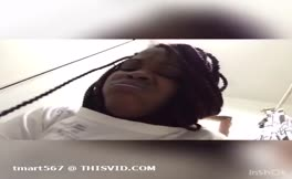 Ebony girl pooping and talking dirty