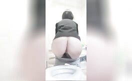 Teasing with curvy ass