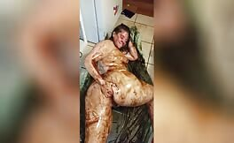 She covered her entire body with fresh shit