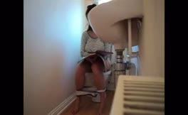 Real mess in toilet